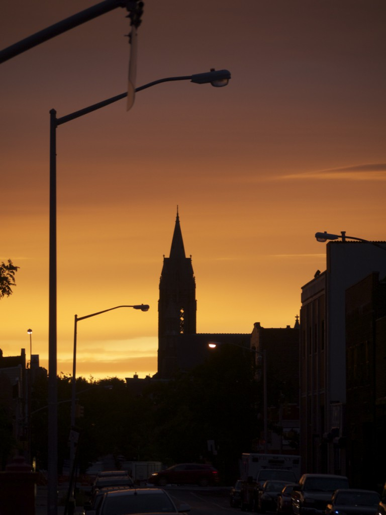 Spire in Sunset