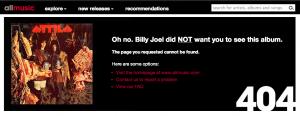 AllMusic 404 page