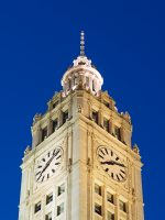Wrigley Building Clocktower Closeup