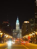 City Hall from the Benjamin Franklin Parkway