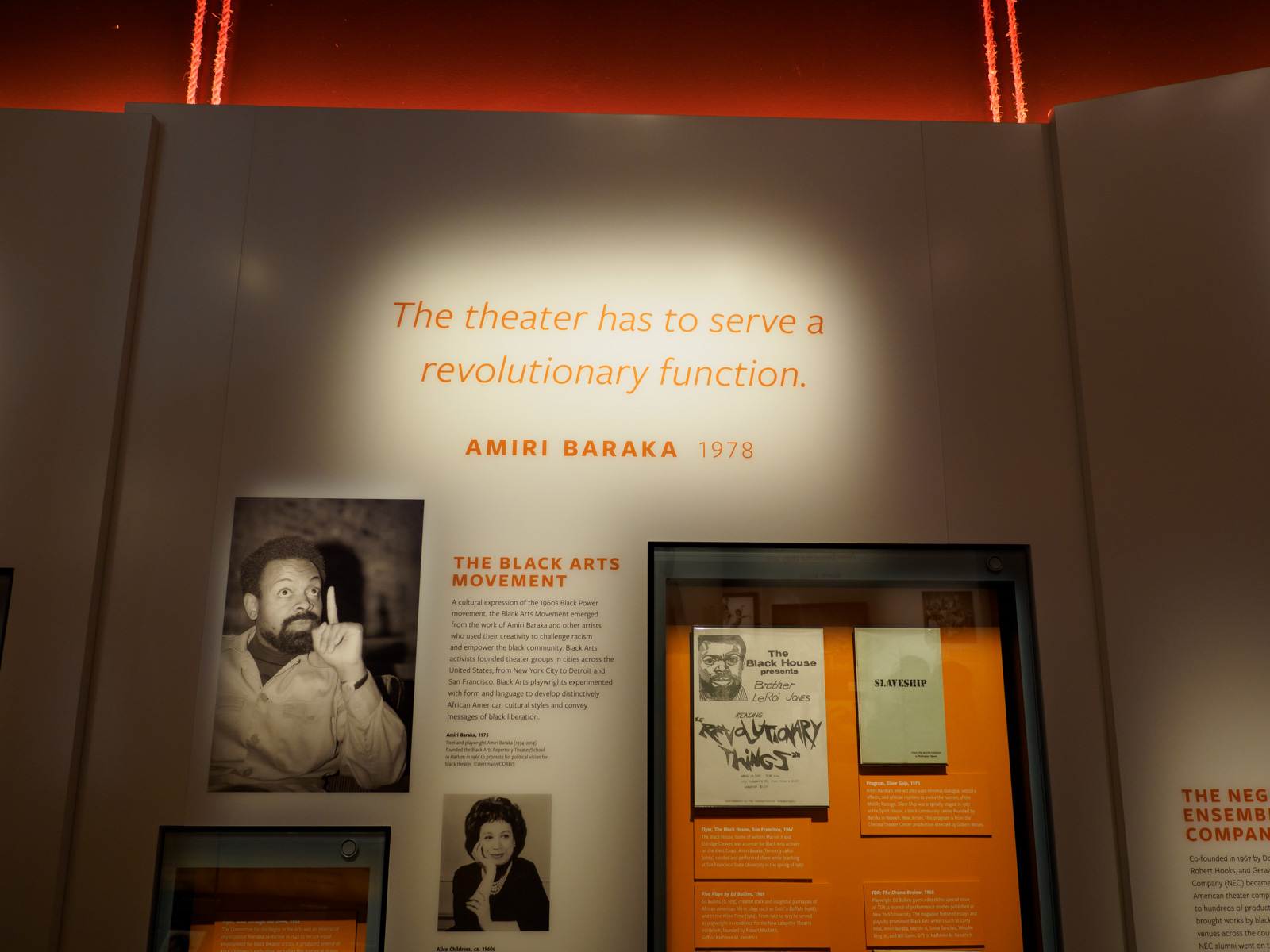 baraka revolutionary theatre Amiri baraka's revolutionary theatre: a reapplication of african ritual paradigms (slightly revised version published in the encyclopedia of africa and the americas.