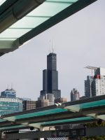 Willis Tower from Morgan Station